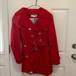 CALVIN KLEIN Trench Coat - Large - Like New